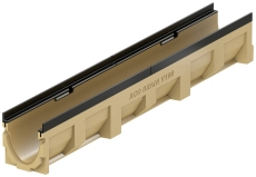 ACO V100G 1000 mm rende 10.0 med støbejernskarm, uden udløb/