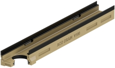 ACO V100G 1000 x 100 mm rende med støbejernskarm/udløb, u/ri