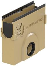 ACO V100G 500 x 450 x 110 mm sandfang med støbejernskarm, u/