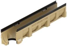 ACO V150G 1000 mm rende 10.0.2 m/støbejernskarm/udløb, uden