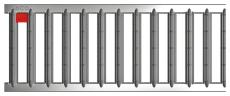 ACO SELF 500 mm rustfri spalterist, 1,5 t
