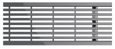 ACO SELF 1000 mm rustfri slidsrist, 1,5 t