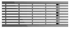 ACO SELF 500 mm rustfri slidsrist, 1,5 t
