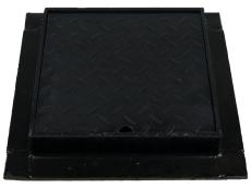 Duco 315 x 60 mm karm/dæksel, firkantet, 2,5 t, sort smedeje