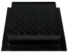 Duco 315 x 100 mm karm/dæksel, firkantet, 2,5 t, sort smedej