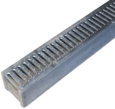 Duco Mini 500 mm rende med galv. spalterist, u/udsparing, 1,