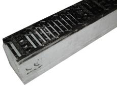 Duco Maxi 100 500 mm rende med støbejernsrist, uden udløb, 2