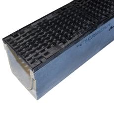 Duco Maxi 200 1000 mm rende med støbejernsrist, uden udløb,