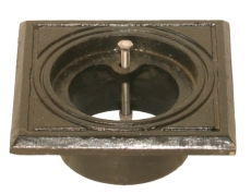 Duco 110 mm rørbrøndkarm uden rist/dæksel, firkantet, GG