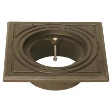 Duco 160 mm rørbrøndkarm uden rist/dæksel, firkantet, GG