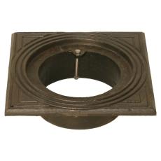 Duco 200 mm rørbrøndkarm uden rist/dæksel, firkantet, GG