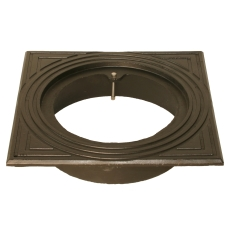 Duco 315 mm rørbrøndkarm uden rist/dæksel, firkantet, GG