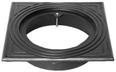Duco 425 mm rørbrøndkarm uden rist/dæksel, firkantet, GG