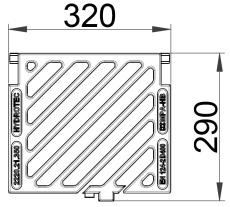 Duco løs rendestensrist med diagonale lameller, 40 t, SG SOR