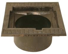 Duco 280 x 200 mm rendstenskarm, flydende, 4-flanget, SG RØD