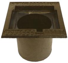 Duco 280 x 320 mm rendestenskarm, flydende, 4-flanget, SG RØ