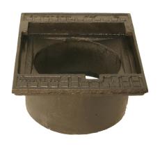 Duco 315 x 200 mm rendestenskarm, flydende, 2-flanget, SG RØ