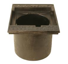 Duco 315 x 320 mm rendestenskarm, flydende, 2-flanget, SG RØ
