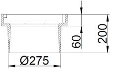 Duco 280 x 200 mm rendestenskarm, flydende, 2-flanget, SG SO