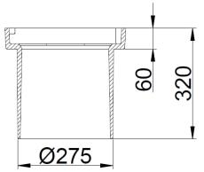 Duco 280 x 320 mm rendestenskarm, flydende, 2-flanget, SG SO