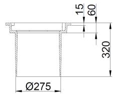 Duco 280 x 320 mm rendestenskarm, flydende, 4-flanget, SG SO