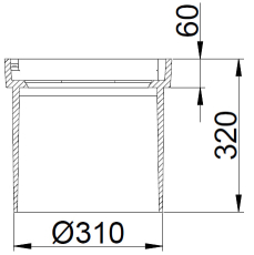 Duco 315 x 320 mm rendestenskarm, flydende, 2-flanget, SG SO