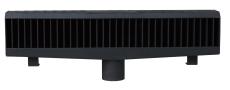 Duco 110 mm kantstensrist, 25 t, sort smedejern