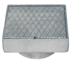 Duco 200 x 155 mm karm/dæksel t/tagbrønd, 2,5 t, galv. smede