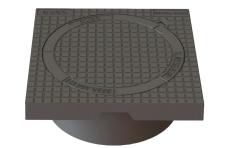 Duco 425 x 195 mm karm/dæksel m/lås, firkantet, fast, 12,5 t