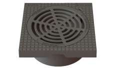 Duco 425 x 195 mm karm/rist med lås, firkantet, fast, 12,5 t
