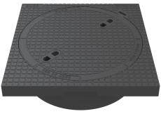 Duco 600 x 195 mm karm/dæksel u/lås, firkantet, fast, 12,5 t