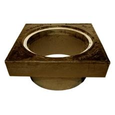 Duco 425 x 250 mm karm med pakning, firkantet, fast, SG RØD