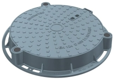 Duco 600 x 100 mm karm med boltet dæksel, rund, fast, 40 t,
