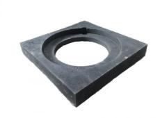 Duco 315 mm karm, firkantet, fast, PVC-genbrugsplast