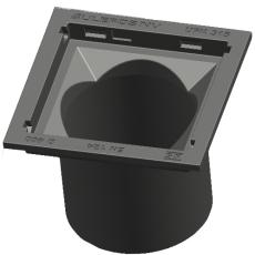 Ulefos 315 x 334 mm rendestenskarm uden rist, 4-flanget, SG
