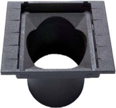 Ulefos 280 x 250 mm rendestenskarm uden rist, 2-flanget, SG