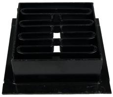 Duco 315 x 130 mm karm/rist, firkantet, 40 t, sort smedejern