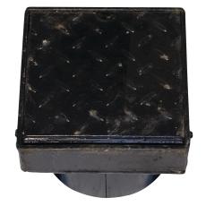 Duco 200 x 155 mm karm/dæksel t/tagbrønd, 2,5 t, sort smedej