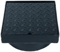 Duco 315 x 130 mm karm/dæksel t/tagbrønd 2,5 t, sort smedeje