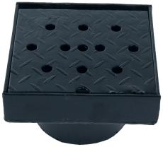 Duco 315 x 130 mm karm/rist til tagbrønd 2,5 t, sort smedeje