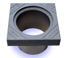 Ulefos 315 x 300 mm karm med pakning, firkantet, SG UKL/31,5