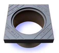 Ulefos 425 x 300 mm karm med pakning, firkantet, SG UKL/42,5