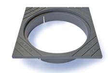 Ulefos 800 x 200 mm karm u/pakning, firkantet, fast, SG UKL/