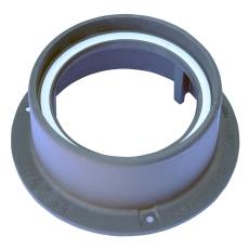 Ulefos 300 x 150 mm karm med pakning, rund, fast, SG UL/30-1