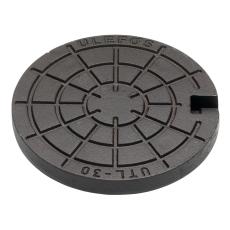 Ulefos 300 mm dæksel med pakning og fjederlås, 40 t, SG UTL3