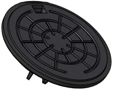 Ulefos 315 mm dæksel m/påstøbt pakn./fjederlås, 40 t SG UTVL