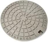 Ulefos 600 mm dæksel m/påstøbt pakn./fjederlås, 40 t, SG UTL
