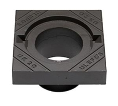 Ulefos 200 x 100 mm karm uden pakning, firkantet, fast, SG U