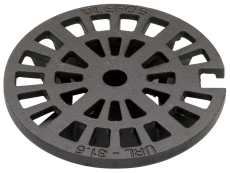 Ulefos 315 mm rist med pakning og lås, 40 t, SG URL 31,5