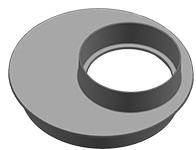 Ulefos 600/315 mm støbejernsovergang til multibrønde